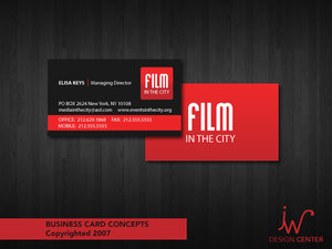 Film in the City Business Cards